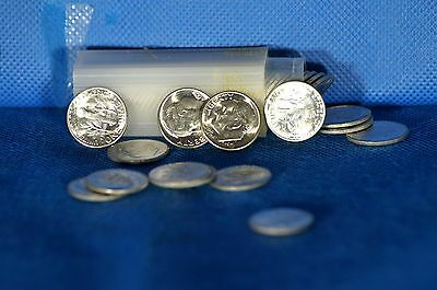 1955 S Roosevelt Dime Tube Of 50 US Coins