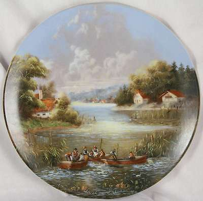 Uuslauf der fischer c7797  plate 5 collectable boating country scene