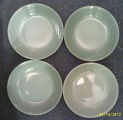 """Retro Woods Ware Beryl. 4 x 7.3/4"""" Soup/Cereal Bowls"""