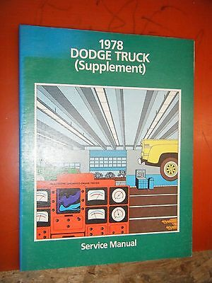 1978 Dodge 100-400 Conventional 4X4 Truck 243 Diesel Factory Service Manual Supp