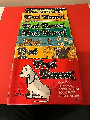 Collection Of 7 Fred Basset Books, Comic Strip From The Daily Mail