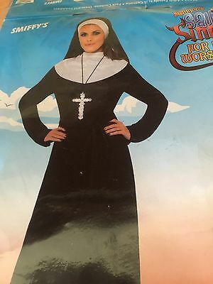 Ladies - Nun fancy dress outfit - Size: 16/18 - Brand New