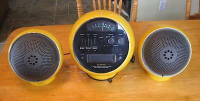 Vintage Weltron Model 2001 Yellow Am/fm Radio 8 Track Player W/ball Speaker