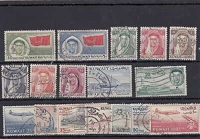 Kuwait.17-- 1960/61 Used Stamps On Stockcard
