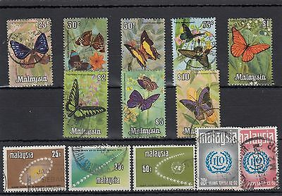 Malaysia. 13 --1970 Used Stamps On Stockcard.includes High Face Values
