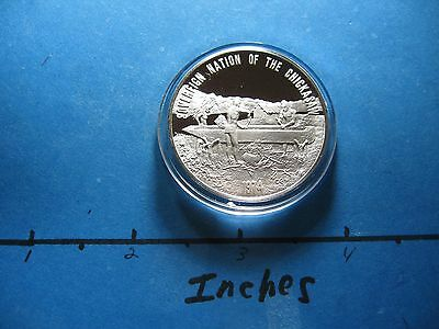 Chickasaw Tribe Nation Native American Indian Nations 999 Silver Coin Sharp T-6