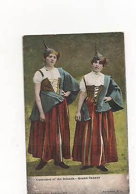 Grand Canary,Spain, Women in  Traditional Costume,PPC (1908)