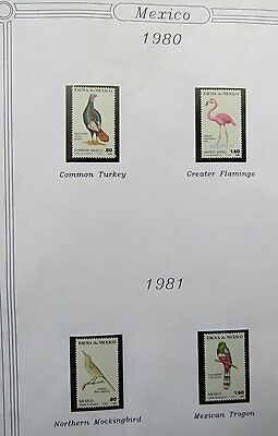 Birds on stamps Mexico