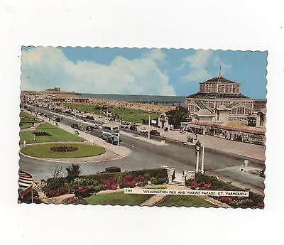 Wellington Pier and Marine Parade Great Yarmouth,RPPC 1963 Nene series