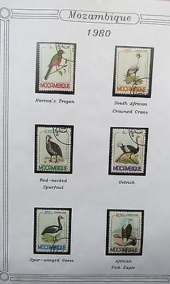 Birds on stamps Mozambique & namibia