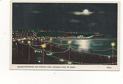 Queens Promenade and Onchan Head I.O.M at Night,PPC (Valentines)