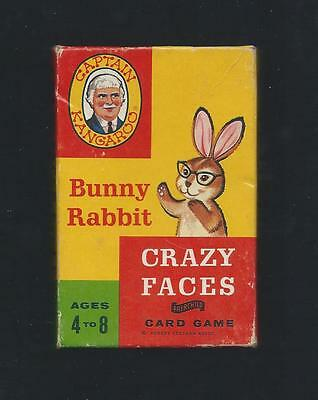 Crazy Faces Card Game from Captain Kangaroo Bunny Rabbit Great Graphics!