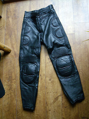 LADIES SIZE 14 ALL LEATHER MOTORCYCLE TROUSERS by J&S: MOTORBIKE / OFF ROAD.