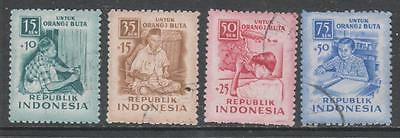 INDONESIA - 1956.  Blind Relief Fund - Set of 4, Used.