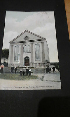 Carmarthenshire:Tabernacle Congregational Chapel Whitland,1909 printed postcard.