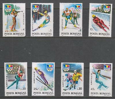 ROMANIA - 1992.  Winter Olympic Games - Set of 8, MNH