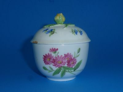 MEISSEN Applied Floral Small Covered Trinket Box, Crossed Swords