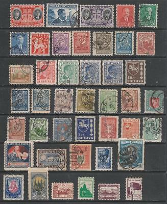 LITHUANIA - 43 x Mainly Used Stamps - Early-1941 Period