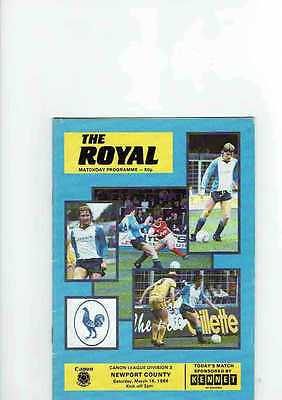 Reading v Newport County Div 3 March 1986