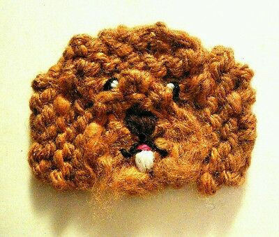knitted labradoodle brooch NEW !