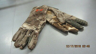 Under Armour Camo HeatGear Liner Gloves (Mossy Oak Obsession) 1244038-946-LARGE