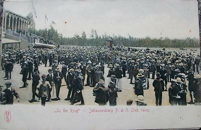 "Vintage Postcards of Johannesburg- ""In the Ring"" Johannesburg P & G Club races"