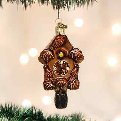 Black Forest Cuckoo Clock Old World Christmas Ornament NWT Mouth Blown Glass