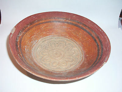 Pre Columbian pottery  painted vessel   ex German collection