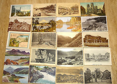 Collection Of Approx 100 Old Printed Postcards. Great Mixed Lot, Various