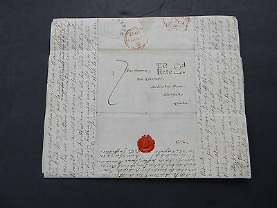 1837 ANTIQUE STAMPLESS LETTER to ASHBURNHAM HOUSE BLACKHEATH LONDON