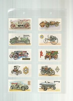 History of the Motor Car  - A full set of 50 cards issued by Brooke Bond in 1968