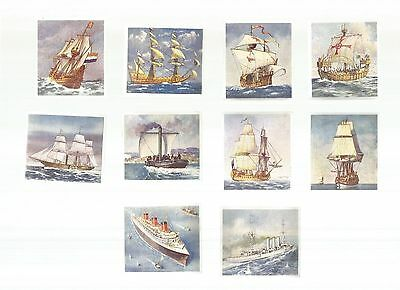 'Ships That Have Made History' - A part set of cards (10/36) iss by G. Phillips