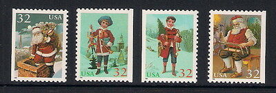 USA US mint stamps - 1995 Christmas Greetings Booklet Stamps, SG3119/3122, MNH