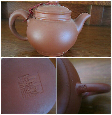 Small Asian Yixing Clay Teapot Signed Plain No Design