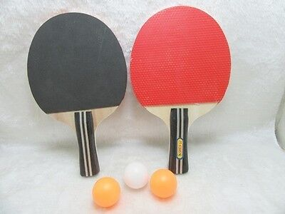 1Set Ping Pong Table Tenis Sport Round Bats with 3 balls