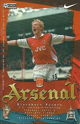 Arsenal V Blackburn Rovers 6/04/1999  Premiership  (5)