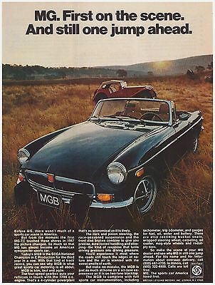 Original 1974 MGB Sports Car British Leyland Motors Vintage Print Ad