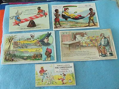 Victorian Advertising Trade Cards 1880's,,,,black Americana