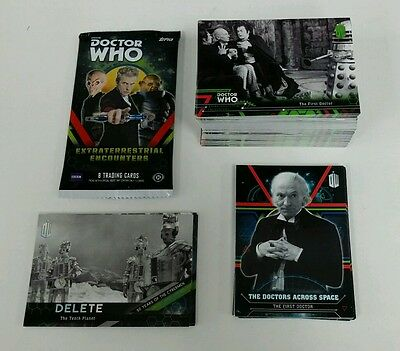 2016 Doctor Who Extraterrestrial Encounters .. Complete 121 Card Set + Wrapper