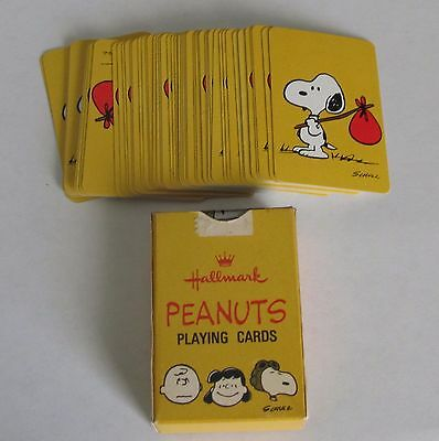 Hallmark Peanuts Snoopy Charlie Brown Mini Playing Cards complete deck