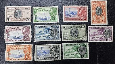 CAYMAN ISLANDS 1935 0.25d to 5s SG 96 - 106 SC 85 - 95  MH