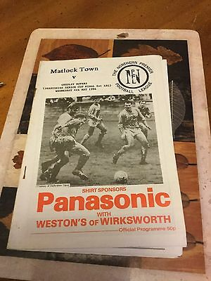 Matlock Town V Gresley Rovers 4 May 94 Derbyshire Cup Final Non League