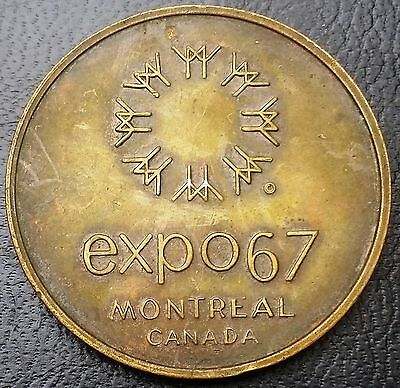 1967 Montreal Expo Canada Medal, United States Pavilion - Free Combined S/H