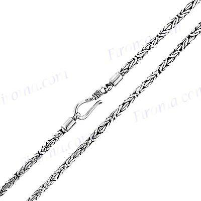 """30"""" 2.5MM BYZANTINE BALI STERLING SILVER CHAIN necklace"""
