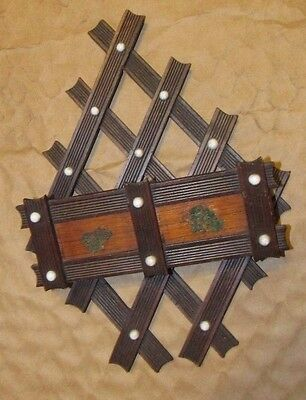 Vintage Wooden Letter Mail Rack Home Office Wall Mount Hanging Bill Holder Solid