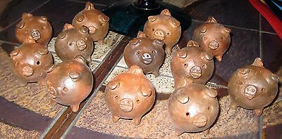 CHANCHITO Small 3 Legged Dark Clay Pig Good Luck Charm from Chile Piggy