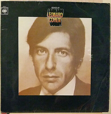 "Leonard Cohen, Songs of Leonard Cohen, 1967 12"" vinyl record 63241"