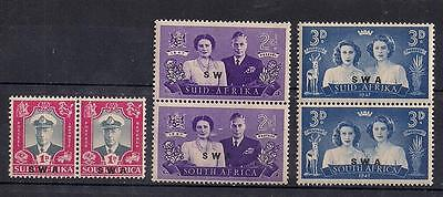 1947 South West Africa Royal Visit Mnh Pairs - Rb5