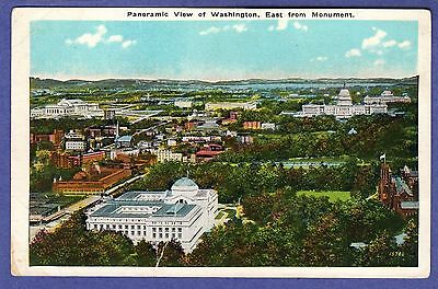 16746 PANORAMIC VIEW of Washington East from Monument National Museum Senate Ofc