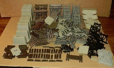 "* Large Assortment of HO Scale  ""Bridge Trestles Piers"""